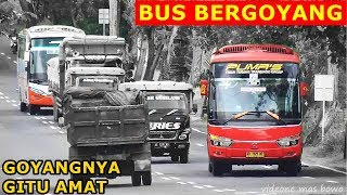 GOYANGAN BUS di Jalan Bergelombang