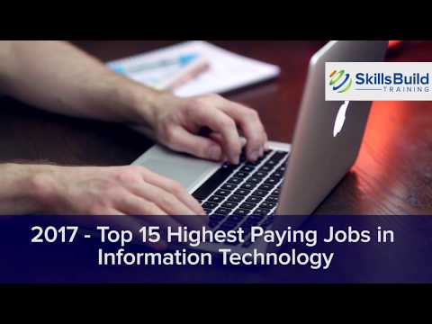 2017 - Top 15 Highest Paying Jobs in Information Technology