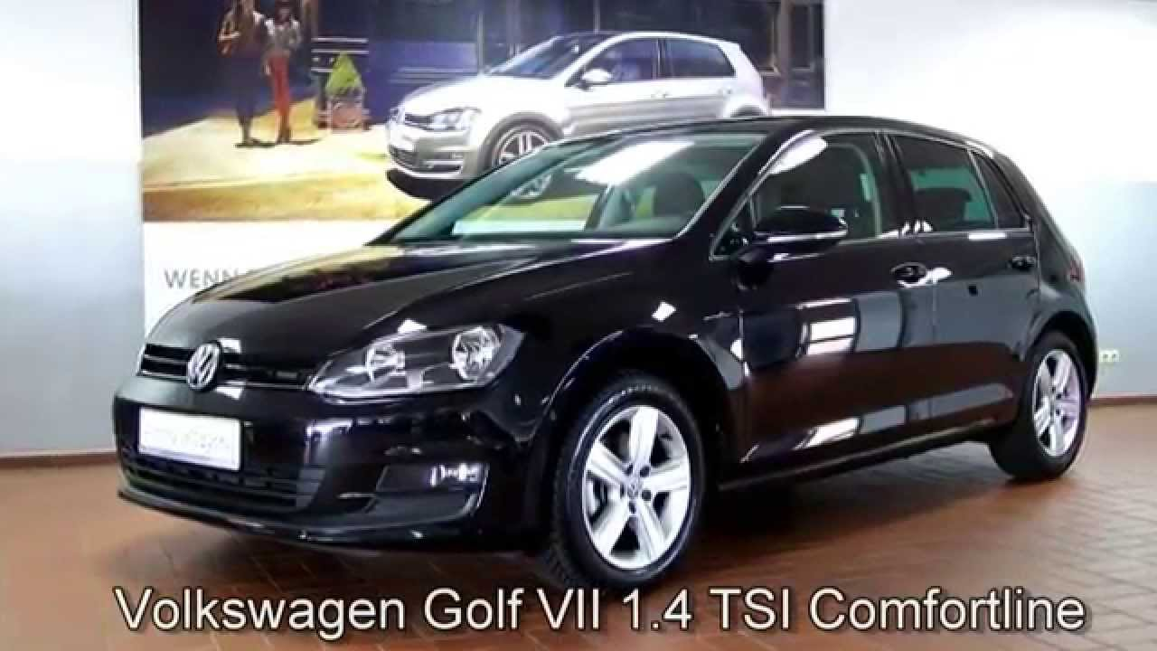 volkswagen golf vii 1 4 tsi comfortline ew192941 deep black autohaus czychy youtube. Black Bedroom Furniture Sets. Home Design Ideas