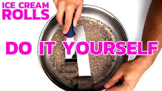 How to make ICE CREAM ROLLS at home - Cookies & Cream | DIY Tutorial & Recipe