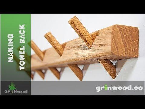 Making a Towel Rack - DIY Wooden Hooks Rack
