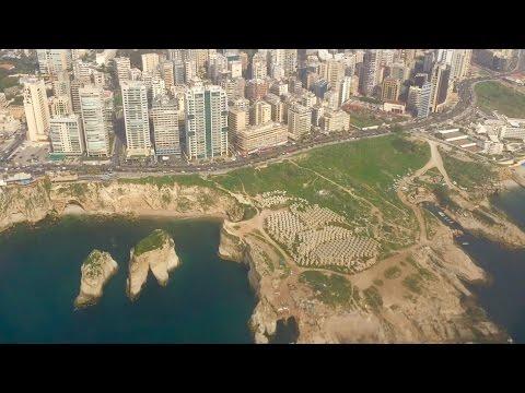 Alitalia Flight AZ824 Rome Fiumicino to Beirut, Lebanon + Spectacular Landing in Beirut