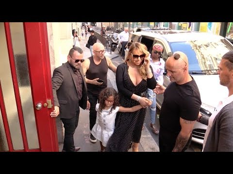 Plumpy but sexy Mariah Carey goes to Alaia in Paris