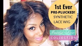 1st Ever Pre-Plucked Natural Synthetic Lace Wigs