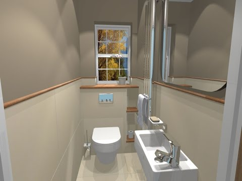Small Cloakroom Ideas with Shower Design UK