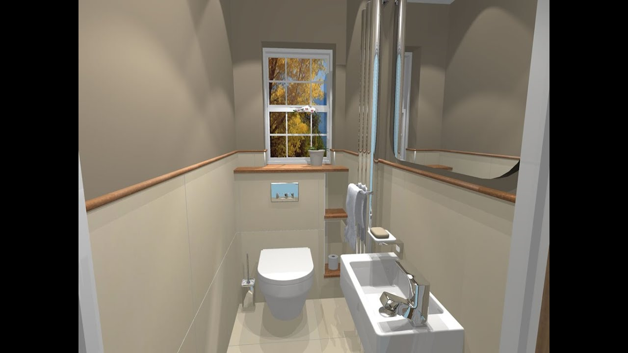 Small Cloakroom Ideas With Shower Design UK YouTube - Small cloakroom toilet ideas