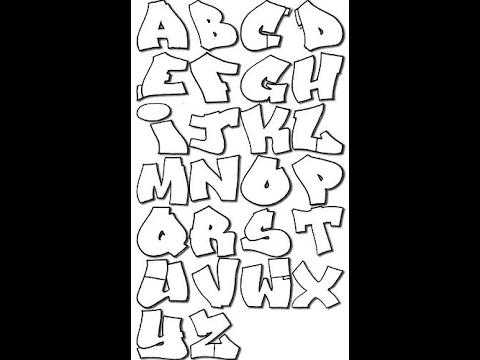 Alfabeto De Graffiti Letras Basica Youtube