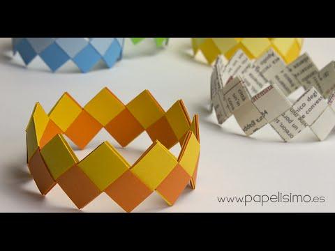 598ee34a4783 Cómo hacer pulseras de papel - PAPELISIMO