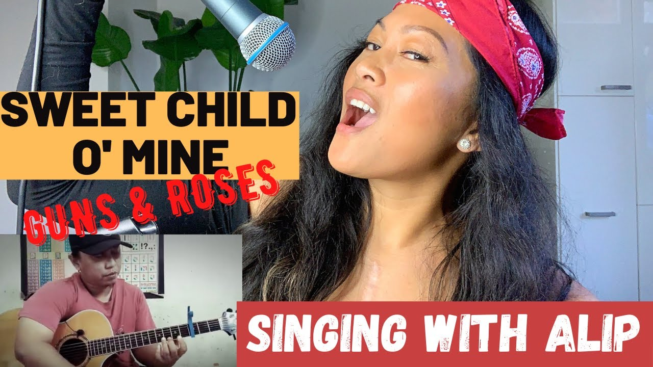 Singing with Alip Ba Ta - Sweet Child O' Mine Guns and Roses ( fingerstyle cover )