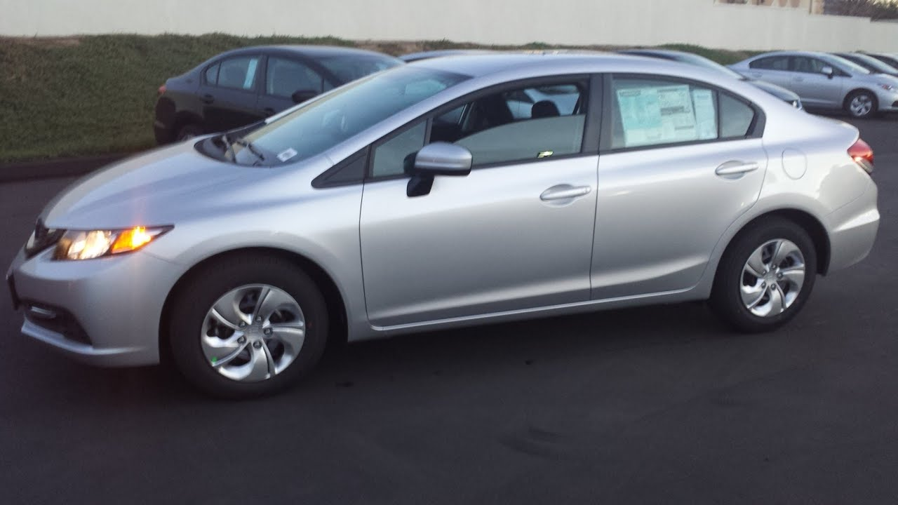 2014 HONDA CIVIC LX sedan DEMO walk around and ( what's ...