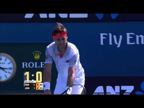 David Ferrer v Steve Johnson highlights (3R) | Australian Open 2016