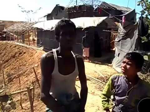 Rohingya Refugee Sikander tells his story. Refugee Camp, Kutupalong, Cox's Bazar, Bangladesh