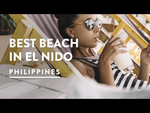 BEST SUNSET BEACH IN EL NIDO - LAS CABANAS | Philippines, Palawan Travel Vlog 104, 2017