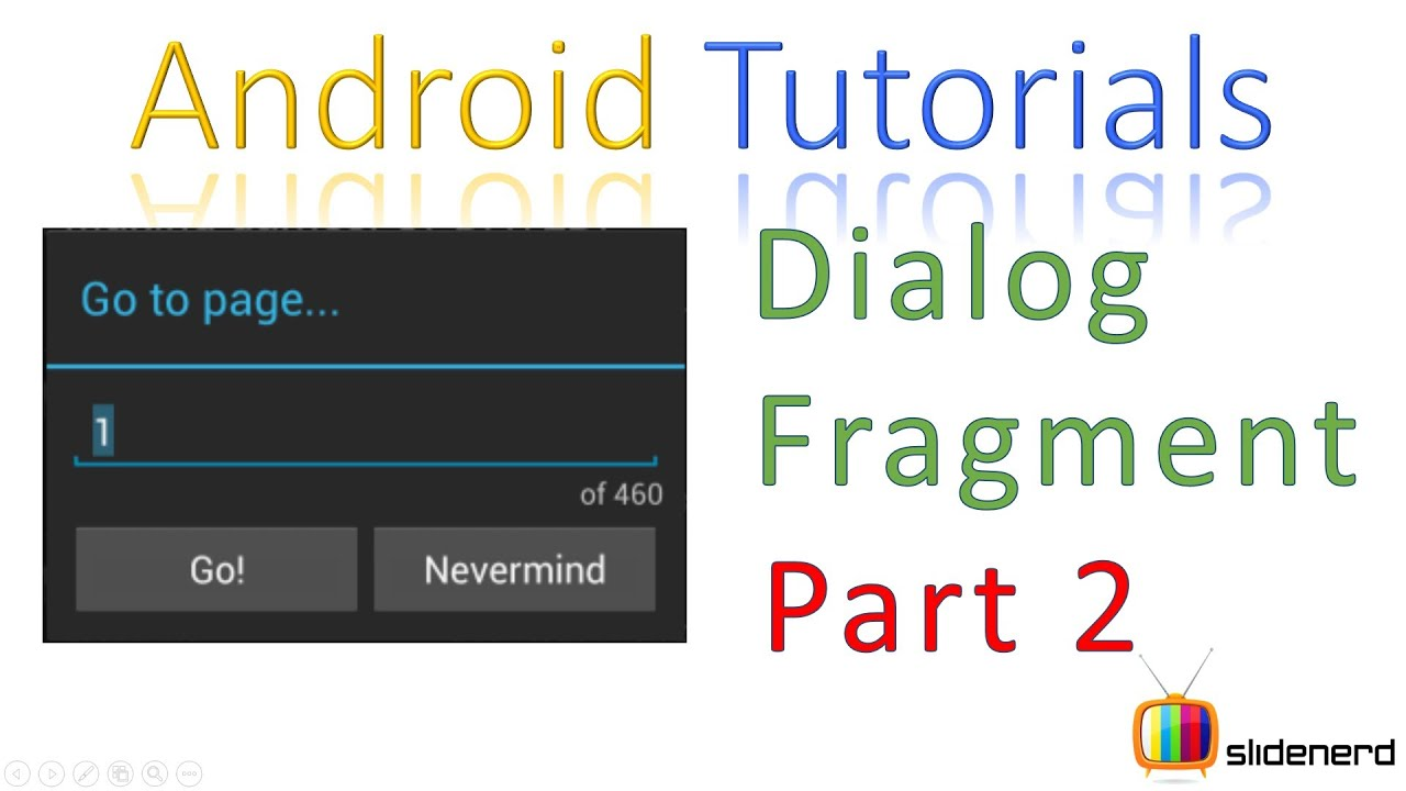 133 Android Dialog Fragment Example  