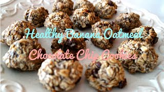 This Video Previously Contained A Copyrighted Audio Track. Due To A Claim By A Copyright Holder, The Audio Track Has Been Muted.     Healthy Banana Chocolate Chip Oatmeal Cookies!