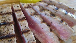 Seared TUNA STEAK - How to Grill TUNA STEAK indoors