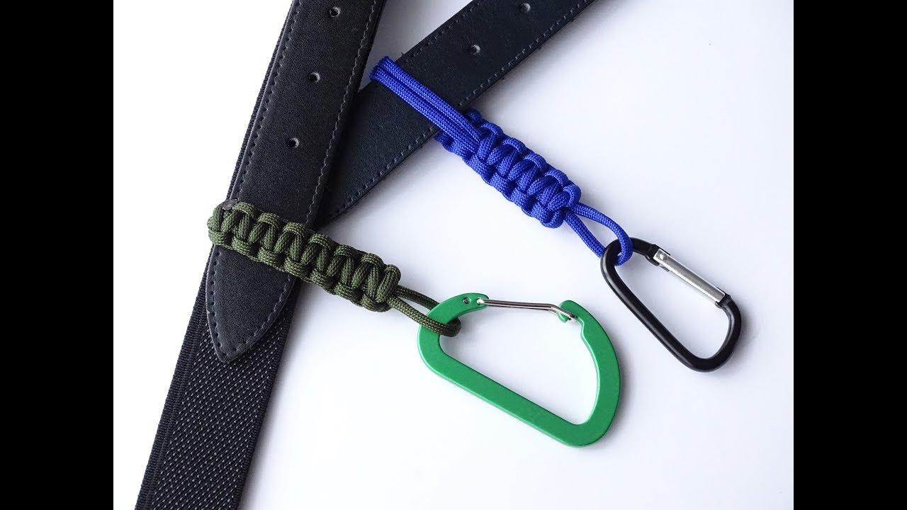 How To Make A Simple Paracord Belt Key Bottle Holder Belt Slides Diy Paracord Crafts Cbys Youtube