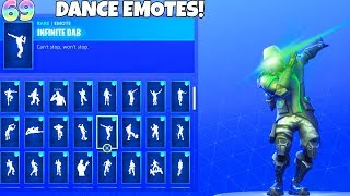 69 DANCE EMOTES with NEW SKIN ARCHETYPE! Fortnite Battle Royale