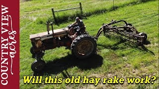 Testing out the Hay Rake I bought at auction for $275.  How much need fixed?