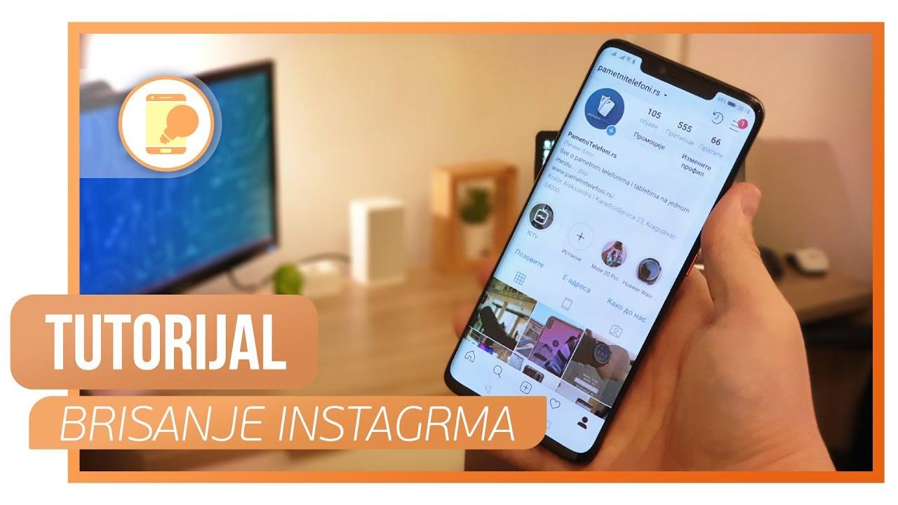 Kako trajno obrisati Instagram nalog na telefonu? - YouTube