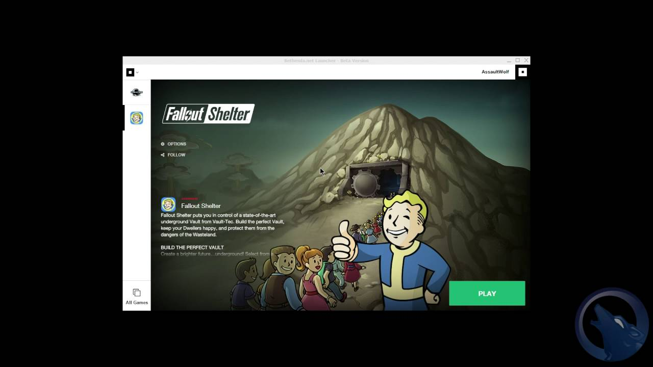 How to get Bethesda's Launcher to work and install Fallout Shelter  (PC)