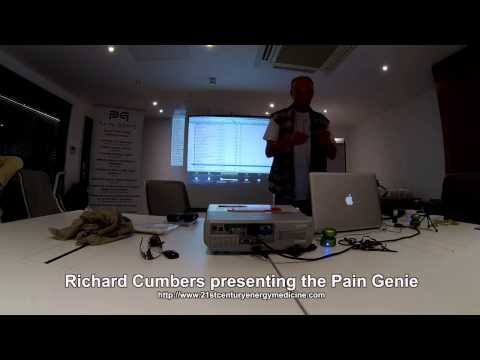 Richard Cumbers presenting the Pain Genie : Scenar Technology