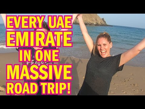 Epic UAE road trip! Seven Emirates in ONE DAY (2018)