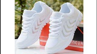 Распаковка кроссовки с aliexpress белые, легкие, для спортзала