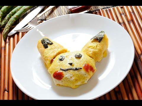 Omelette de arroz en forma de Pikachú
