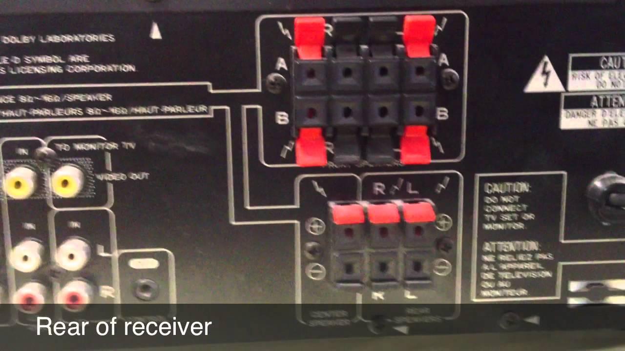 small resolution of pioneer vsx 305 5 1 surround sound youtube pioneer surround sound wiring diagram