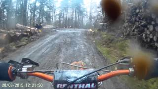 KTM SX144 Llandrillo forest WOR Events 28/03/15