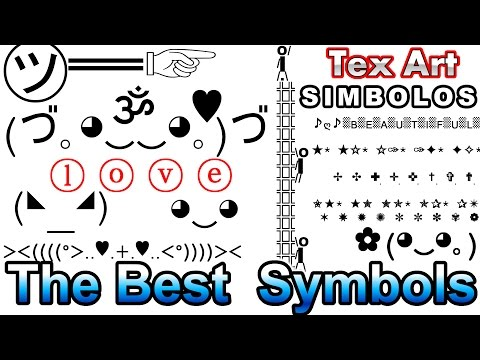 Symbols Cool Text Art Characters Different Letters (Símbolos Caracteres)