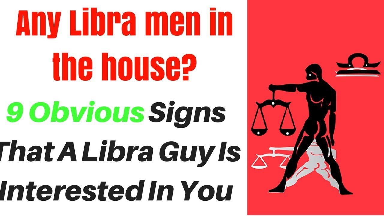 Libra man interested signs
