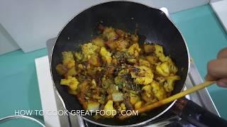 Aloo Gobi Recipe Potato Cauliflower Vegan Indian - Sabzi