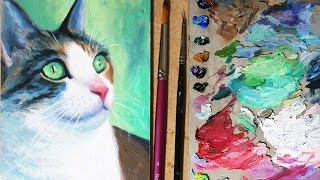Oil Painting Time Lapse | Portrait of my cat