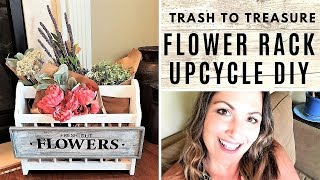 FARMHOUSE THRIFT MAKEOVER - WOOD MAGAZINE RACK UPCYCLE