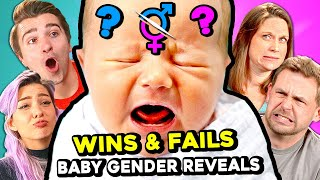 Couples React To Baby Gender Reveal FAILS & WINS!
