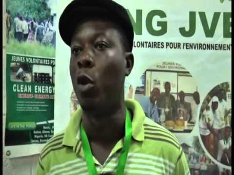 Markerting Renewable Energy equipment at the Togo fair JVE à la foire Togo 2000