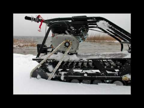 видео: Мотобуксировщик в глубоком снегу. Испытания. Возможности. Компактная мотособака