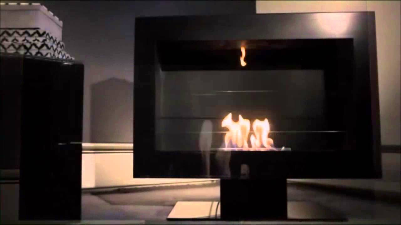 Tribeca II Freestanding Ethanol Fireplace by Anywhere Fireplace at CleanFlamescom  YouTube