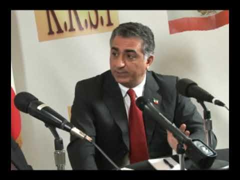 Reza Pahlavi 2009 at Radio Sadye Iran KRSI, Beverly Hills, Secular Humanism Islam USA