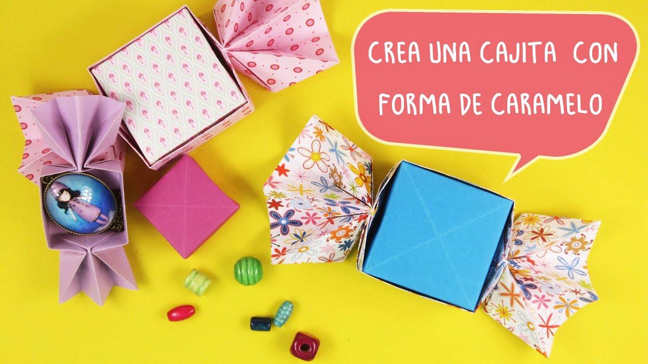 caja de  regalo con forma de caramelo