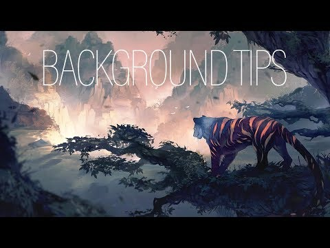 BACKGROUND TIPS for BEGINNERS | PROCESS | Medibang Paint Pro