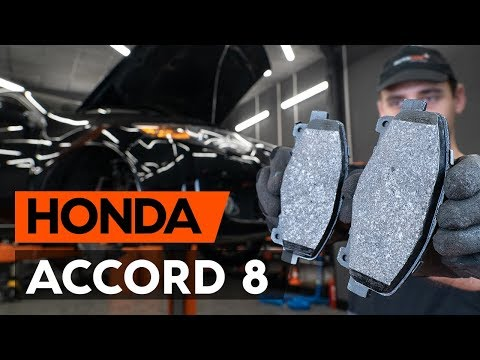 How to replace front brake pads / front brake pad set on HONDA ACCORD 8 (CU2) [TUTORIAL AUTODOC]