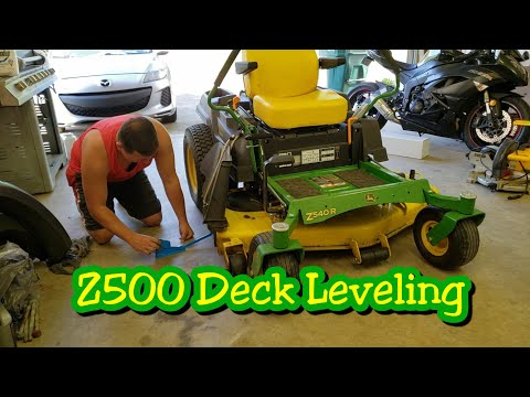 How to level your mower deck | John Deere ztrak z500 series