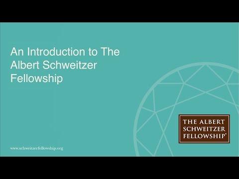 Albert Schweitzer Fellowship Presentation