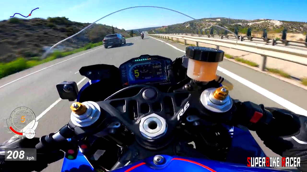 Download Yamaha R6 GPS Top Speed Quickshifter Akrapovic Sound