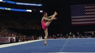 Kara Eaker – Floor Exercise – 2018 U.S. Gymnastics Championships – Senior Women Day 1