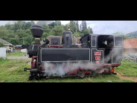 La plimbare cu cea mai veche locomotiva cu aburi din ROMANIA (764.243), aflata in uz!