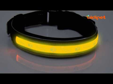 AIDIPET Soft EVE Lycra LED Light-up Dog Collar